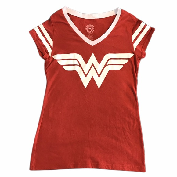 DC Comics Wonder Woman Logo Juniors Sheer T-Shirt Tee